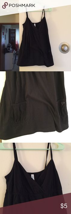 Lilu Black Tank Very good condition. Pockets at bottom. Cross posted on Ⓜercari & ♈inted. Lilu Tops Tank Tops