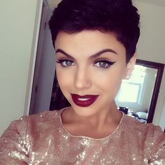 Thinking about doing my makeup like this for formal! Maybe a more apple red instead of a burgundy lipstick though.