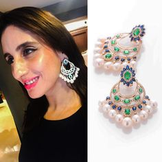 """""""Our New Festive FARAH KHAN FINE JEWELLERY collection is out!  Come and view it.  We will be exhibiting our new collection in Chandigarh at TALWAR…"""""""