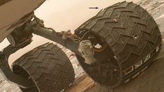 Unfortunately for NASA's Curiosity rover, you can't call a mechanic on Mars. A NASA image (above), taken 19 March, 2017 and posted online yesterday, shows that one of the zig-zag treads, or grousers, on Curiosity's left middle wheel has broken (arrow). Two such tread fractures have occurred in the past 8 weeks, the space agency reports.
