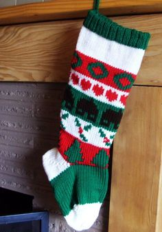 Knitted Christmas Stocking Lined  - Home is Where the Heart Is  #stocking #knitted #christmas #girls www.loveitsomuch.com