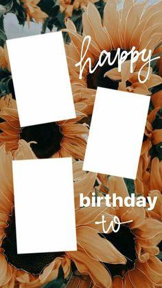 Happy Birthday Template, Happy Birthday Frame, Birthday Posts, Birthday Frames, Creative Instagram Stories, Instagram And Snapchat, Instagram Story Ideas, Birthday Captions Instagram, Birthday Post Instagram