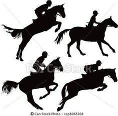 clip art horse jumping