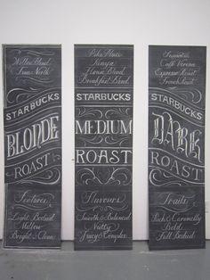Starbucks Chalkboards by Letters In Ink , via Behance