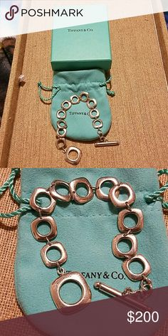 Authentic tiffany and co cushion bracelet Authentic tiffany and co cushion bracelet great condition with some minor scratches Tiffany & Co. Jewelry Bracelets