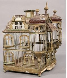 Creative Sketchbook: Collections Corner: Birdcages, birdcages and more… Antique Bird Cages, Decorative Bird Cages, Bird Cage Design, Parakeet Cage, The Caged Bird Sings, Vintage Birds, Vintage Clocks, French Vintage, Wire Art