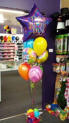 Birthday supershape, agate, foils bouquet