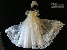 De luxe en gros de douille de chapeau Empire ruban de dentelle perles paillettes 2012 Tulle cheville longueur robes première communion, $ 66.08-72.8/Piece | DHgate