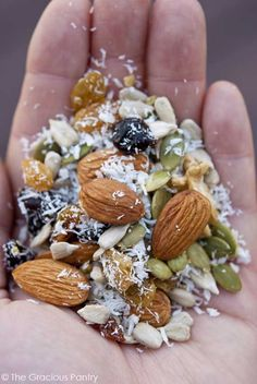 #Grainfree Trail Mix #Recipe. Dbl-click pic for recipe. #Celiac #coeliac, confirm #Nuts are #glutenfree. #Educate