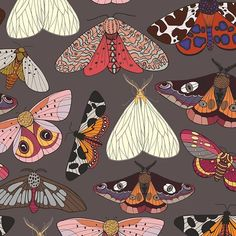 Moths Pattern by Elona laff Seamless Repeat Vector Royalty-Free Stock Pattern View Moths Pattern Animals/Birds Design by Elona laff. Available in Vector, Seamless Repeat Royalty-Free. Seamless vector pattern with mothsJPGEPS 8 Illustration Papillon, Illustration Vector, Pattern Illustration, Pattern Art, Pattern Design, Vector Pattern, Pattern Painting, Arte Sketchbook, Insect Art