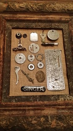 Lot of Singer 127 Sewing Machine Parts Great Decor Steampunk Jewelry Charms Card Making Scrap Booking Altered Art Supplies for Seamstress Related posts:Vintage Children's Sewing Machine with CaseIt all started with a dare - Chapt. Sewing Machine Drawers, Sewing Machine Tables, Treadle Sewing Machines, Sewing Machine Parts, Antique Sewing Machines, Sewing Tables, My Sewing Room, Sewing Rooms, Sewing Spaces