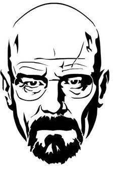 Vector Preto E Branco Walter White Heisenberg from Breaking Bad stencil dxf File Art Sketches, Art Drawings, Breaking Bad Art, Art Diy, Free Stencils, Walter White, Silhouette Art, Stencil Art, Portrait Art