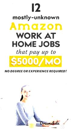 12 mostly-unknown am. Amazon Jobs At Home, Amazon Work From Home, Work From Home Jobs, Job S, Online Jobs