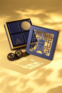中法典雅!Jean-Paul Hévin朱古力月餅 - STYLE-TIPS.COM Bakery Packaging, Gift Box Packaging, Brand Packaging, Packaging Design, Branding Design, Rice Packaging, Sweet Box Design, Dm Poster, Luxury Packaging