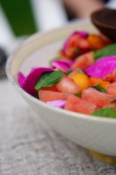 Rose petal salad