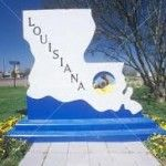 Louisiana is one of the hottest states in the nation.  This sign is a reminder of what the people have been through with hurricane Katrina