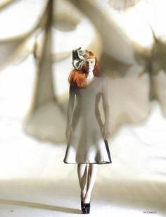 Magazine: Vogue UK, October 2008  Editorial:  'Sculpture Class'  Model:  Karen Elson  Photography: Nick Knight