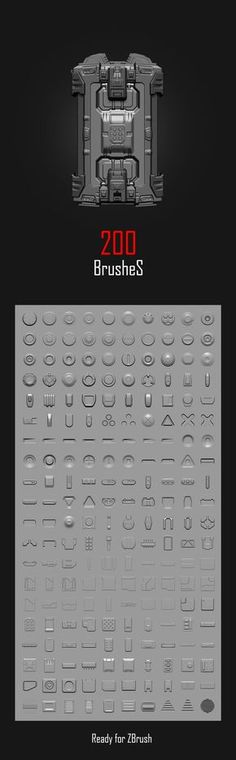 Free Download Hard Surface Brush Pack by ANDREW AVERKIN ANDREW AVERKIN is a 3D Artist from Odessa, U