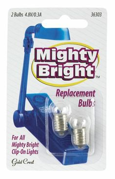 Save $ 3.98 ! Buy a Mighty Bright clip on Reader Replacement Light Bulbs (2) now