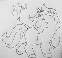 Pencil Art Drawings, Cartoon Drawings, Easy Drawings, Animal Drawings, Drawing Sketches, Colouring Pages, Coloring Books, Coloring Sheets, Unicorn Pictures