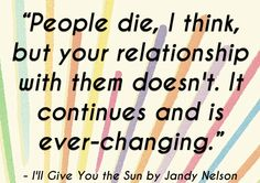 quotes about life from 2014 ya books i'll give you the sun jandy nelson | www.readbreatherelax.com
