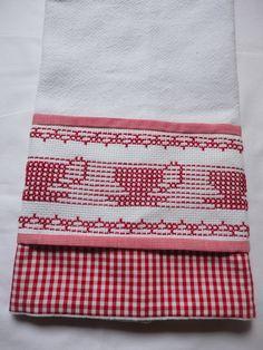 Panos de prato bordados e barra em tecidos 100% algodao. Varias estampas e bordados.