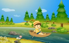 Boat Vector, Vector Art, Boat Illustration, Male Man, Paddle, Art Images, Tinkerbell, Disney Characters, Fictional Characters