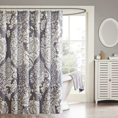 Madison Park Pure Cotton Vienna Shower Curtain
