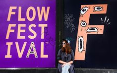 Branding, custom typography and posters for Flow Festival by Bond, Finland