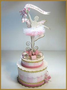 """Sugar Plum Fairy"" Ballerina Cake Topper, Keepsake Box Image"