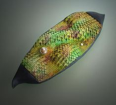"""The work shown in this gallery is generally termed 'cutwork', but more specific styles, I've labelled as """"new age bargello"""", """"encrusted"""" and """"taking flight"""", among others. Polymer Clay Art, Polymer Clay Jewelry, Polymer Project, Clay Ornaments, Bargello, Cutwork, Detailed Image, Oeuvre D'art, Les Oeuvres"""