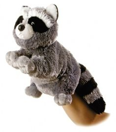 Bandit the Plush Raccoon (Hand Puppet) at theBIGzoo.com, a toy store featuring 3,000+ stuffed animals.