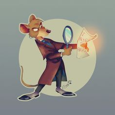 Basil, the great mouse detective! Art Print