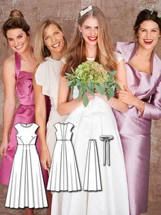 A-Line Wedding Dress 03/2016 #126  http://www.burdastyle.com/pattern_store/patterns/a-line-wedding-dress-032016?utm_source=burdastyle.com&utm_medium=referral&utm_campaign=bs-tta-bl-160314-ModernBrideCollection126