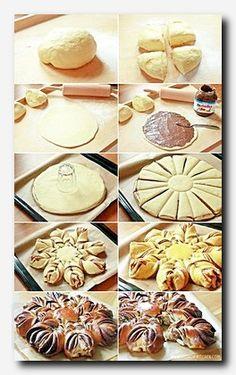 Nutellablume In meinem Urlaub hatte ich mir eine kleine To-Do-Liste geschrieben, used to be ich alles machen und erledigen wollte. Natürlich habe ich nicht all… συνταγες (Visited 1 times, 1 visits today) Pastry Recipes, Cake Recipes, Dessert Recipes, Cooking Recipes, Bread Recipes, Dessert Bread, Kitchen Recipes, Appetizer Recipes, Kitchen Ideas
