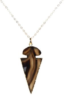 Agate Arrowhead Necklace  $38