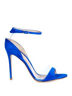 Gianvito Rossi Natalie suede and PVC sandals
