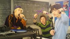 """Ethan, Benny, and Rory's school band: """"Musitronics."""""""