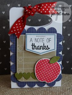 A Note of Thanks Teacher Appreciation Gift