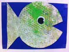 vis stempelen met noppenfolie