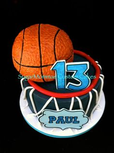 sports, basketball cake