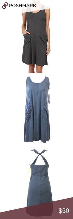 "Lole Sunrise Dress Dark Gray Size XL Lole Sunrise Dress Dark Gray Size XL Round neck 2 Ruched side pockets Open back Sleeveless Approximately measurements  Pit to pit :  19"" Length : 39"" Lole Dresses Mini"
