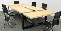 100% custom conference tables & executive. Designed + Built by 2 Brothers. Steel Bases & Premium Hardwoods bring a clean modern aesthetic to an industrial build quality.