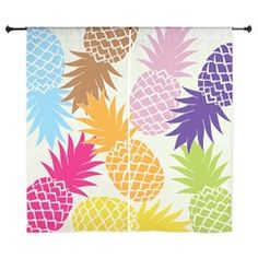Colorful pineapples patterns Curtains