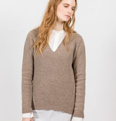 Fisherman Out of Ireland V Neck Sweater Sweaters For Women, Men Sweater, Knitwear, V Neck, Pullover, Wool, Mink, Ireland, Collection