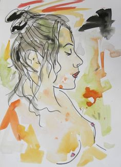 watercolour and charcoal drawing by Andrew Orton