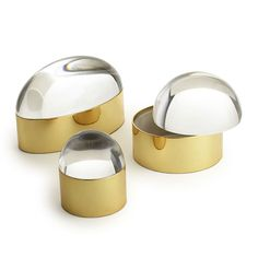 ♦Home~Accessories♦ Jonathan Adler Lucite and Brass Globo Boxes Rose Gold Room Decor, Rose Gold Rooms, Gold Home Decor, Jonathan Adler, Decorative Accessories, Home Accessories, Luxury Gifts, Jewel Tones, Messing