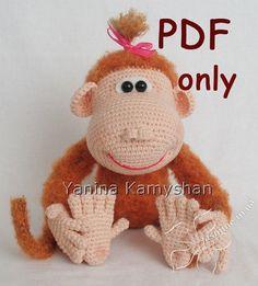 Margo+the+Monkey+crochet+PDF+pattern+by+jasminetoys+on+Etsy