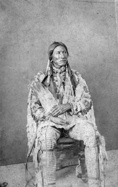 A Native American (Minniconjou Sioux) man, identified as Chief White Bull - 1870/1890