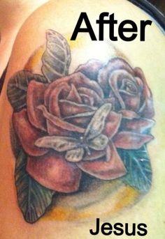 Crazy Cactus Tattoo-Scottsdale, AZ- Jesus- Roses
